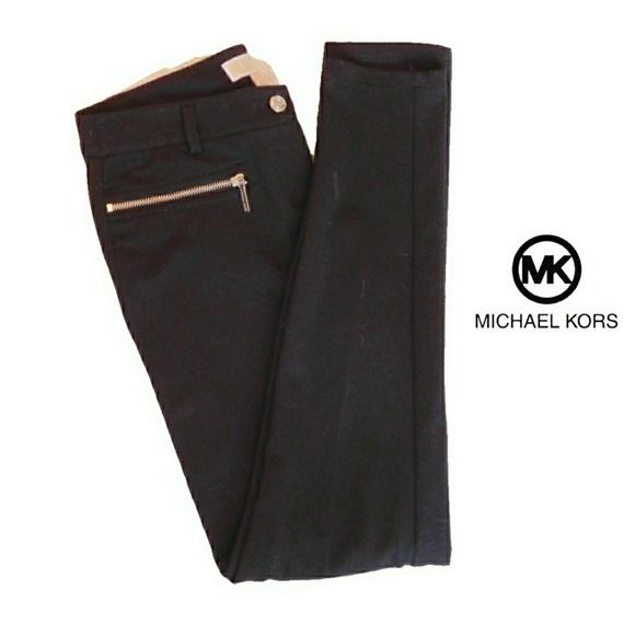 f6d655d30a29 MICHAEL KORS BLACK STRETCH ZIP POCKET SKINNY PANTS.  M_5c4e06f59539f72b0e41ffbd